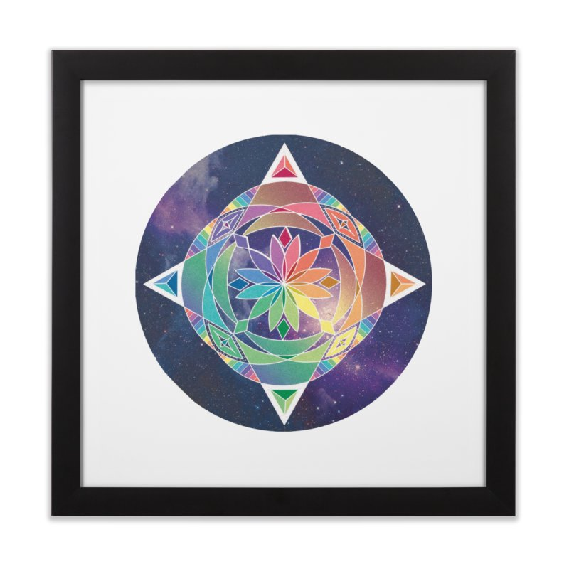 Space Unicorn Home Framed Fine Art Print by Graphic Art by Sarah Sorden