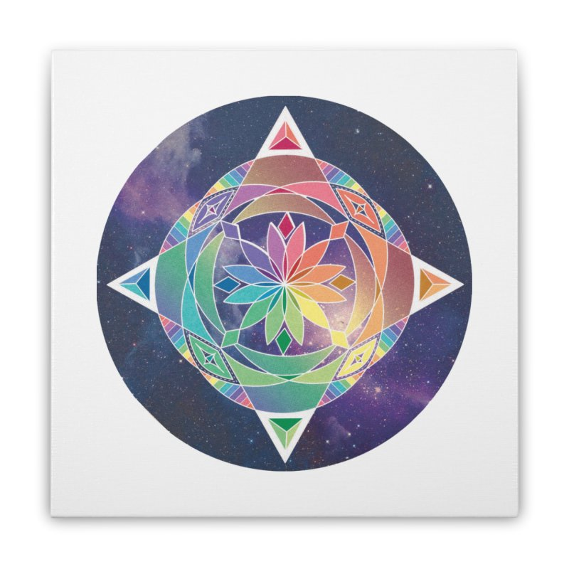Space Unicorn Home Stretched Canvas by Graphic Art by Sarah Sorden