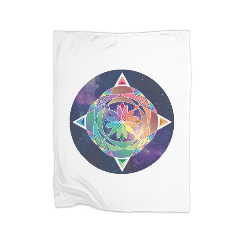 Space Unicorn Home Blanket by Graphic Art by Sarah Sorden