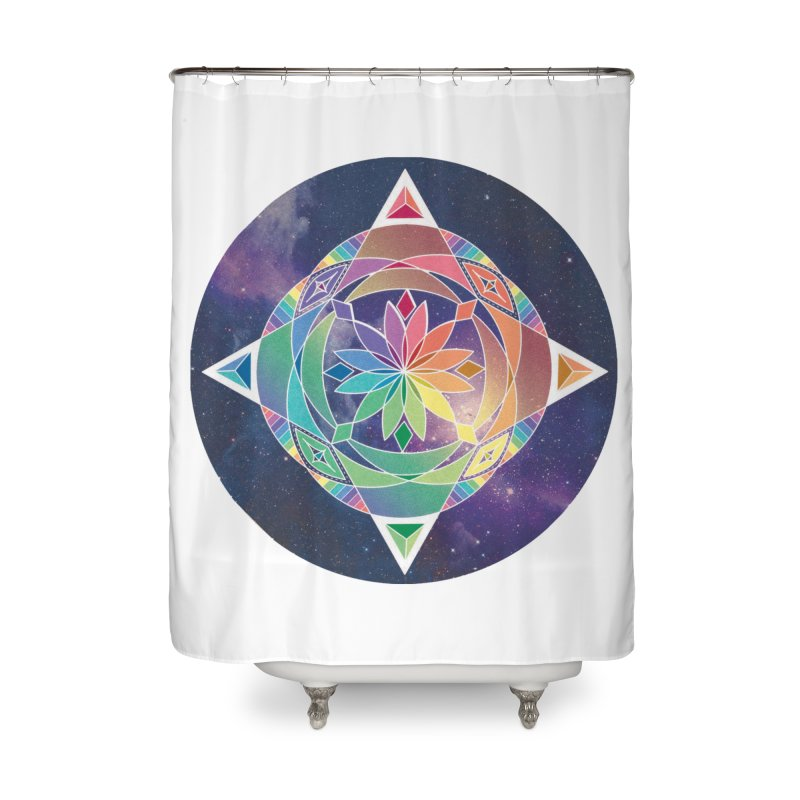 Space Unicorn Home Shower Curtain by Graphic Art by Sarah Sorden
