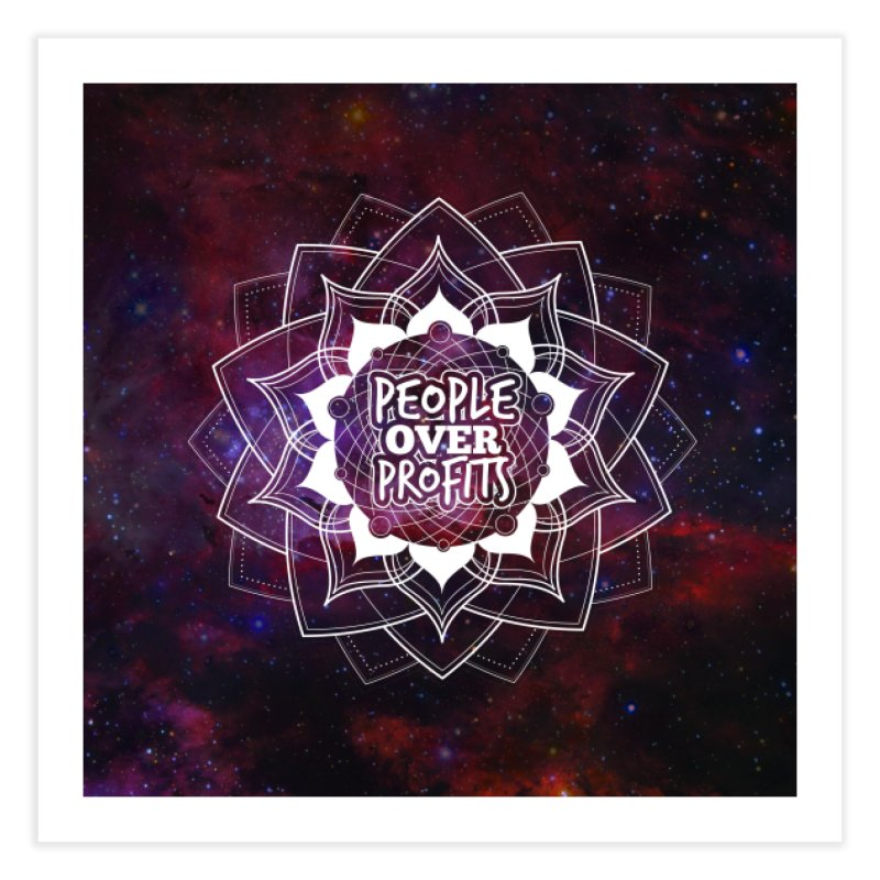 People Over Profits Print Home Fine Art Print by Graphic Art by Sarah Sorden