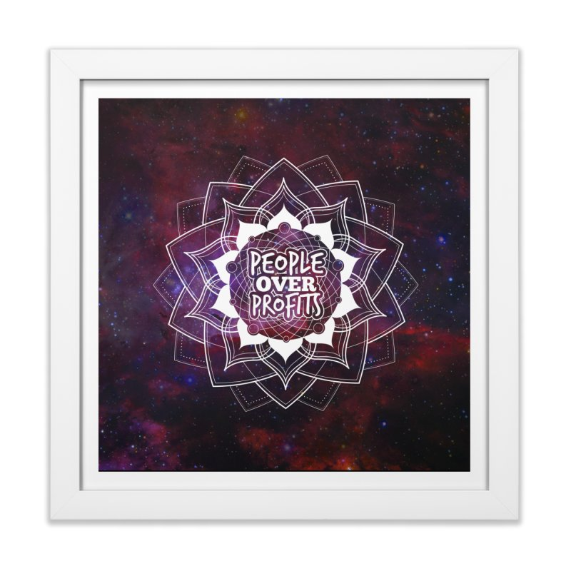 People Over Profits Print Home Framed Fine Art Print by Graphic Art by Sarah Sorden