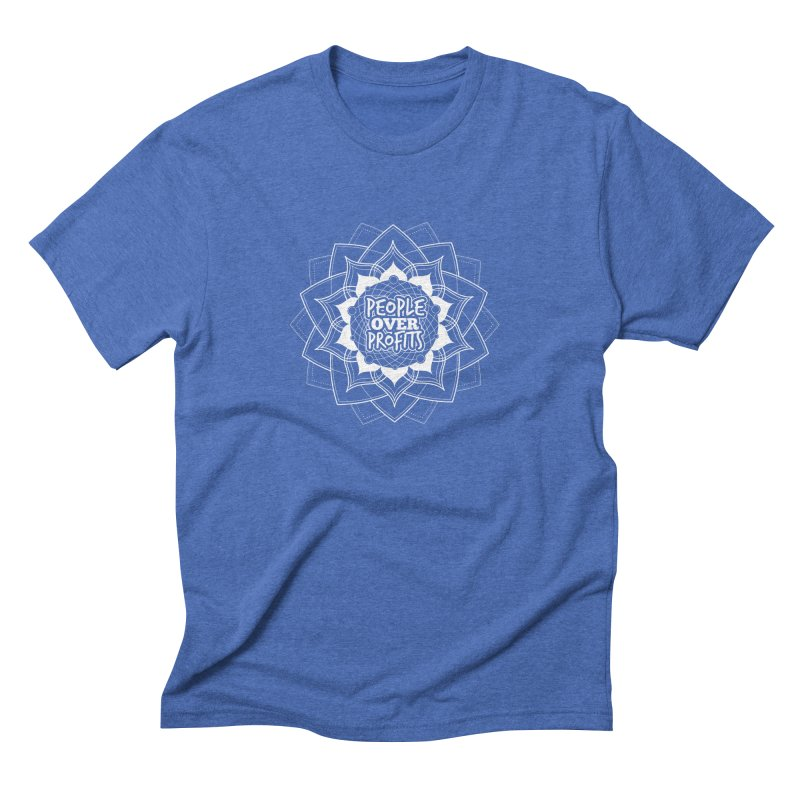 People Over Profits Men's Triblend T-shirt by Graphic Art by Sarah Sorden