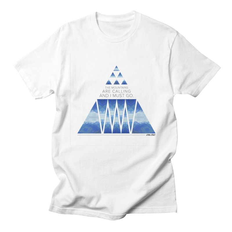The Mountains are Calling Men's T-Shirt by Graphic Art by Sarah Sorden