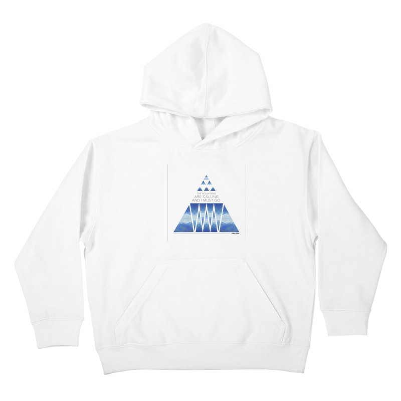 The Mountains are Calling Kids Pullover Hoody by Graphic Art by Sarah Sorden