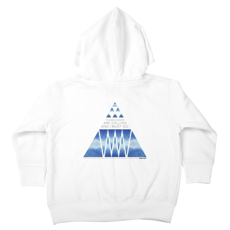 The Mountains are Calling Kids Toddler Zip-Up Hoody by Graphic Art by Sarah Sorden