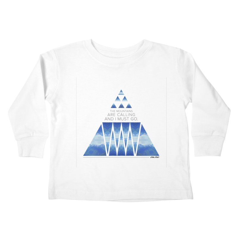 The Mountains are Calling Kids Toddler Longsleeve T-Shirt by Graphic Art by Sarah Sorden