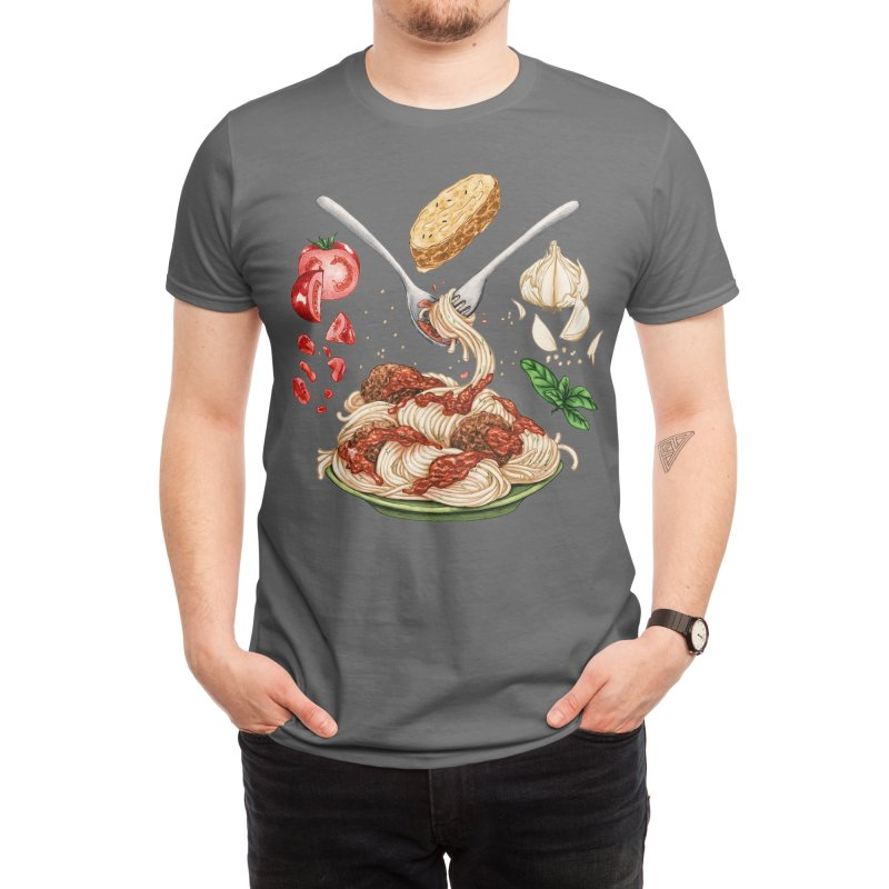 Spaghetti Mandala Men's T-Shirt by Sarah Wright's Artist Shop