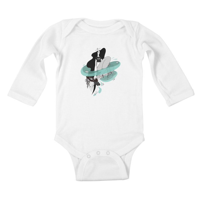 Siren Of Solitude Vol. II by Sardine Kids Baby Longsleeve Bodysuit by Sardine