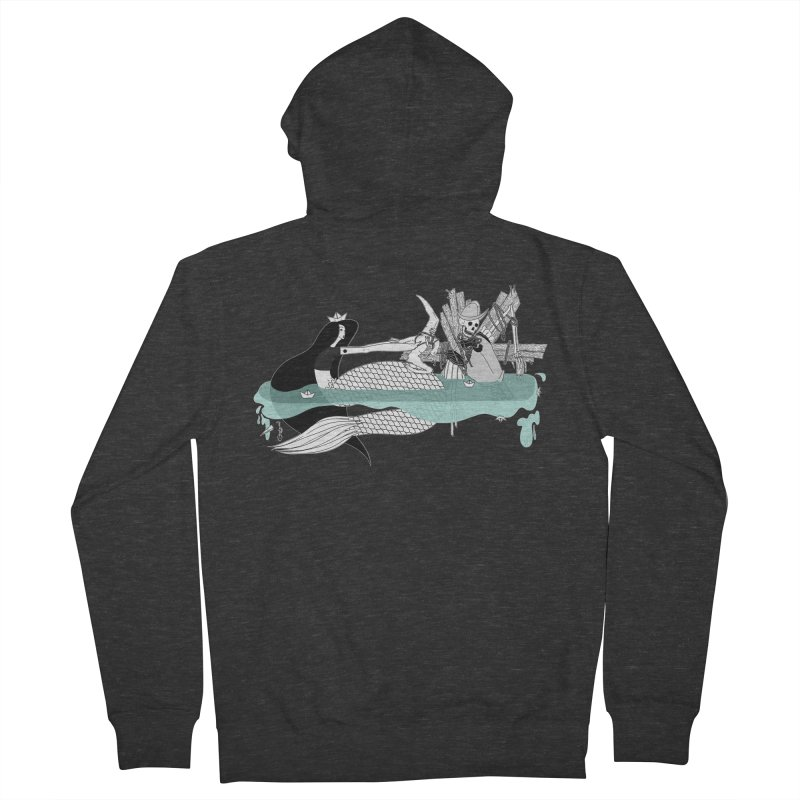 Serene Of Solitude Vol. IV by Sardine Men's French Terry Zip-Up Hoody by Sardine
