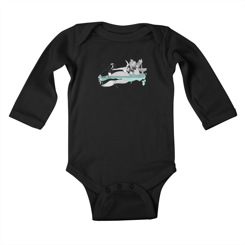 Serene Of Solitude Vol. IV by Sardine Kids Baby Longsleeve Bodysuit by Sardine