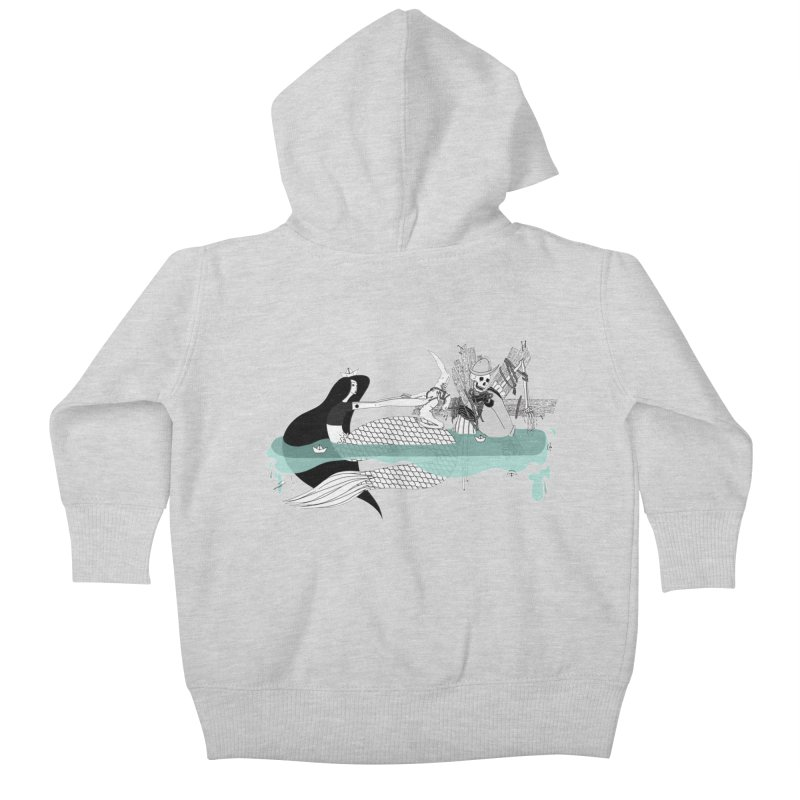 Serene Of Solitude Vol. IV by Sardine Kids Baby Zip-Up Hoody by Sardine