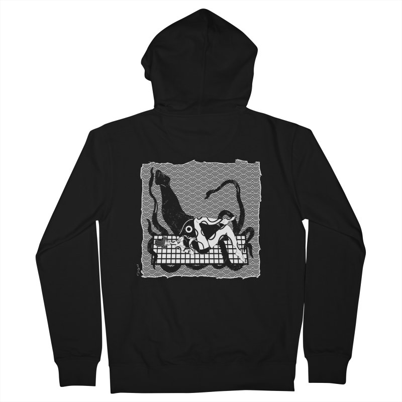 Geisha At The Sea Vol. II by Sardine Men's French Terry Zip-Up Hoody by Sardine