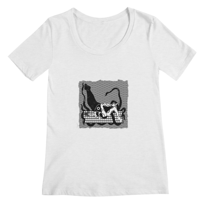 Geisha At The Sea Vol. II by Sardine Women's Regular Scoop Neck by Sardine