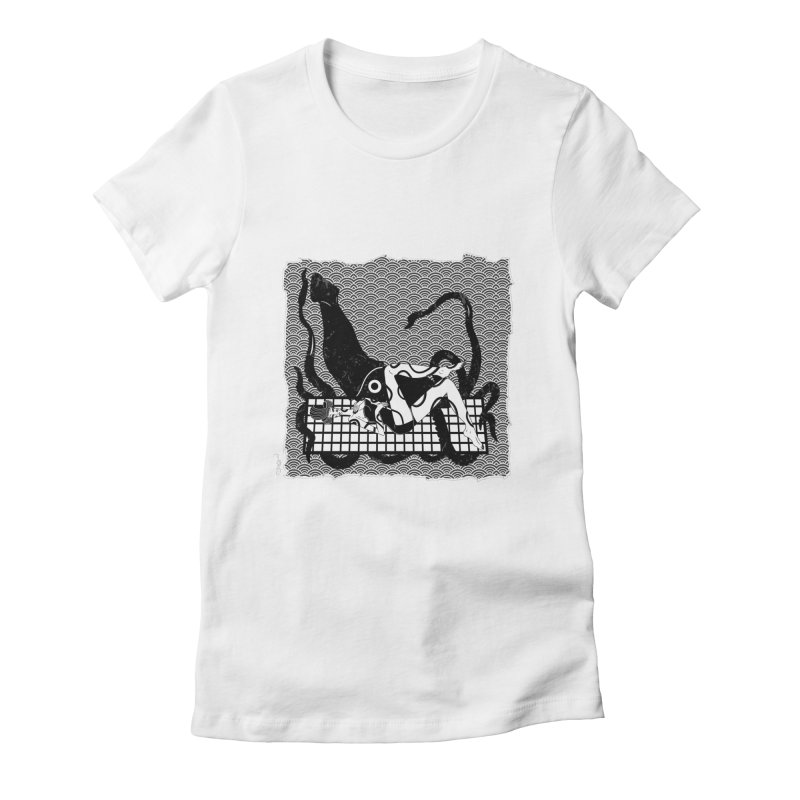 Geisha At The Sea Vol. II by Sardine Women's Fitted T-Shirt by Sardine