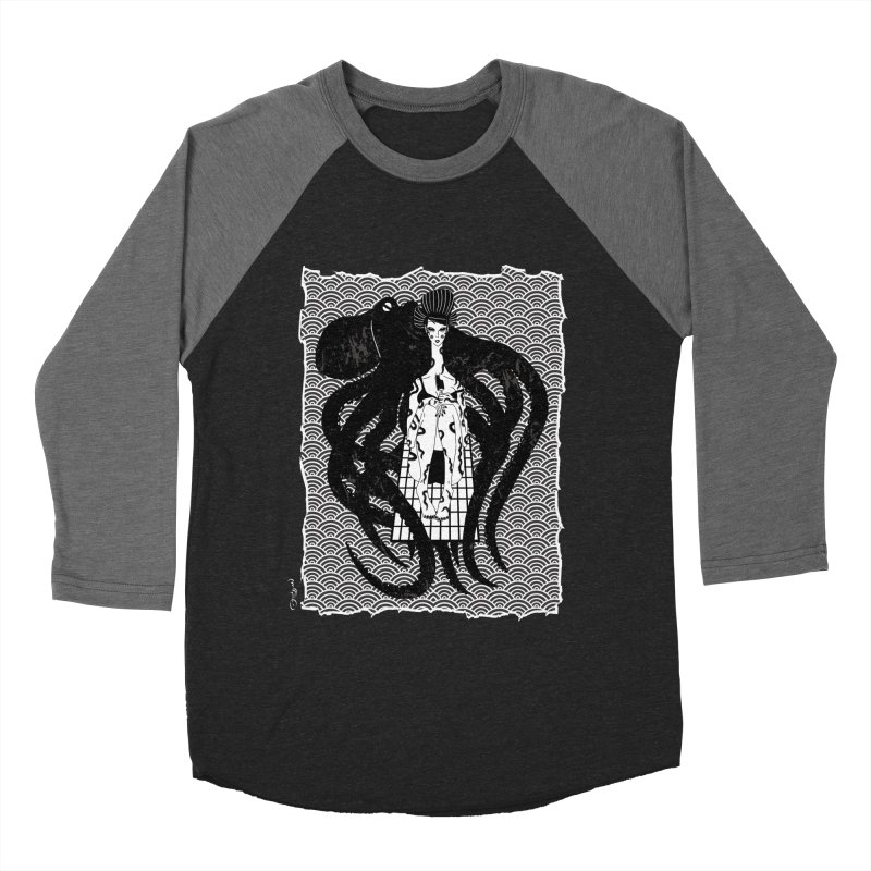 Geisha At The Sea Vol. I by Sardine Men's Baseball Triblend Longsleeve T-Shirt by Sardine