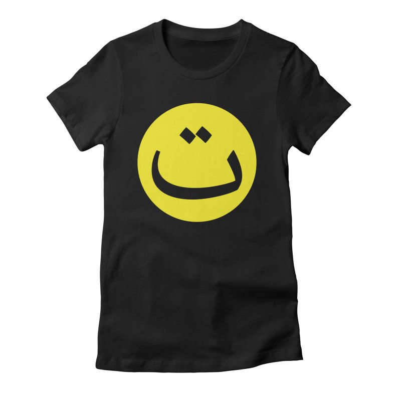 Tah Smiley by Sardine Women's Fitted T-Shirt by Sardine