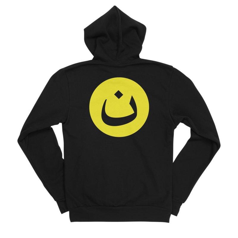 The Noon Cyclops Smiley by Sardine Women's Sponge Fleece Zip-Up Hoody by Sardine