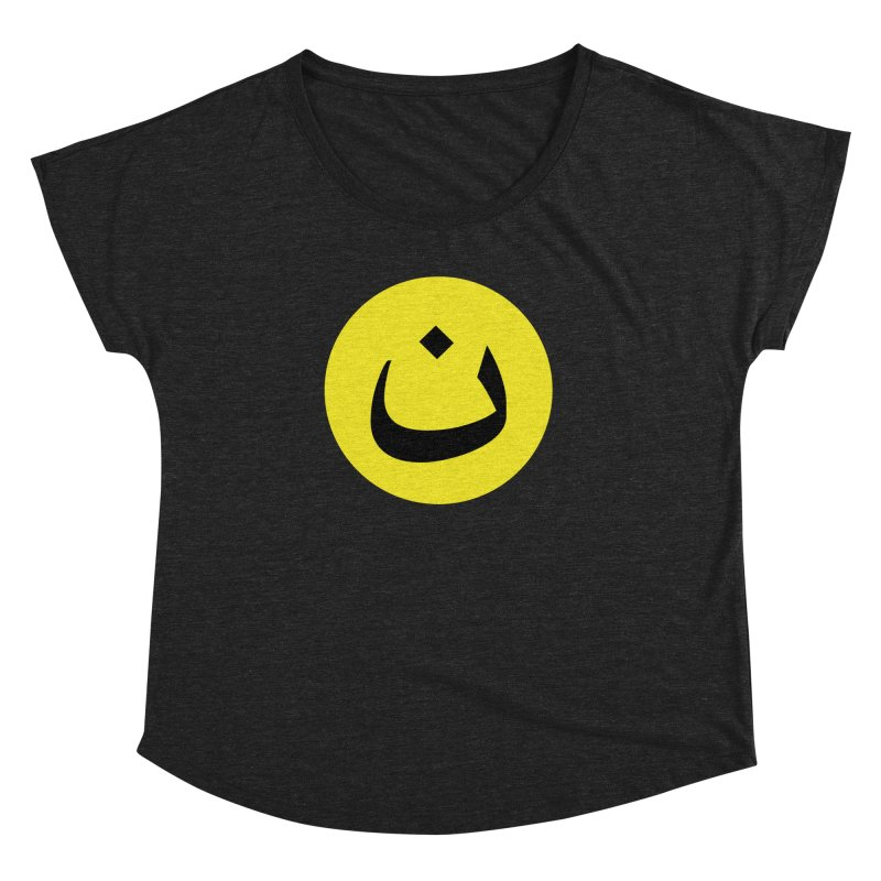 The Noon Cyclops Smiley by Sardine Women's Dolman Scoop Neck by Sardine