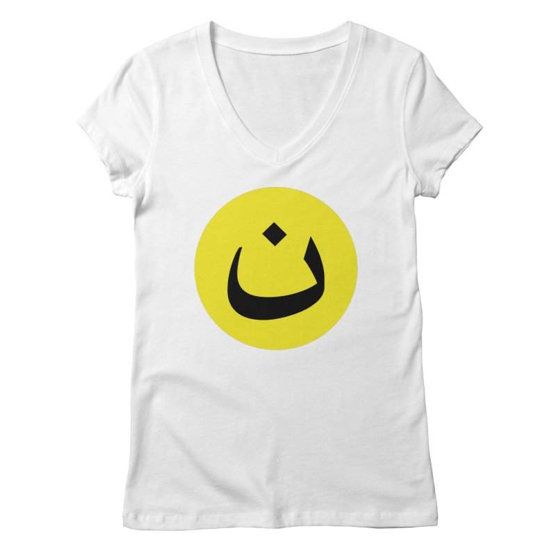 The Noon Cyclops Smiley by Sardine Women's Regular V-Neck by Sardine