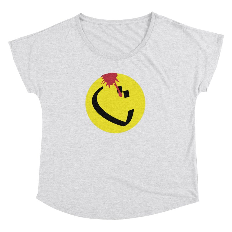 The Tah Smiley Comics Tribute by Sardine Women's Dolman Scoop Neck by Sardine