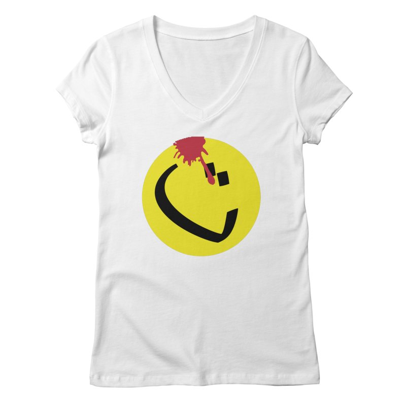 The Tah Smiley Comics Tribute by Sardine Women's Regular V-Neck by Sardine