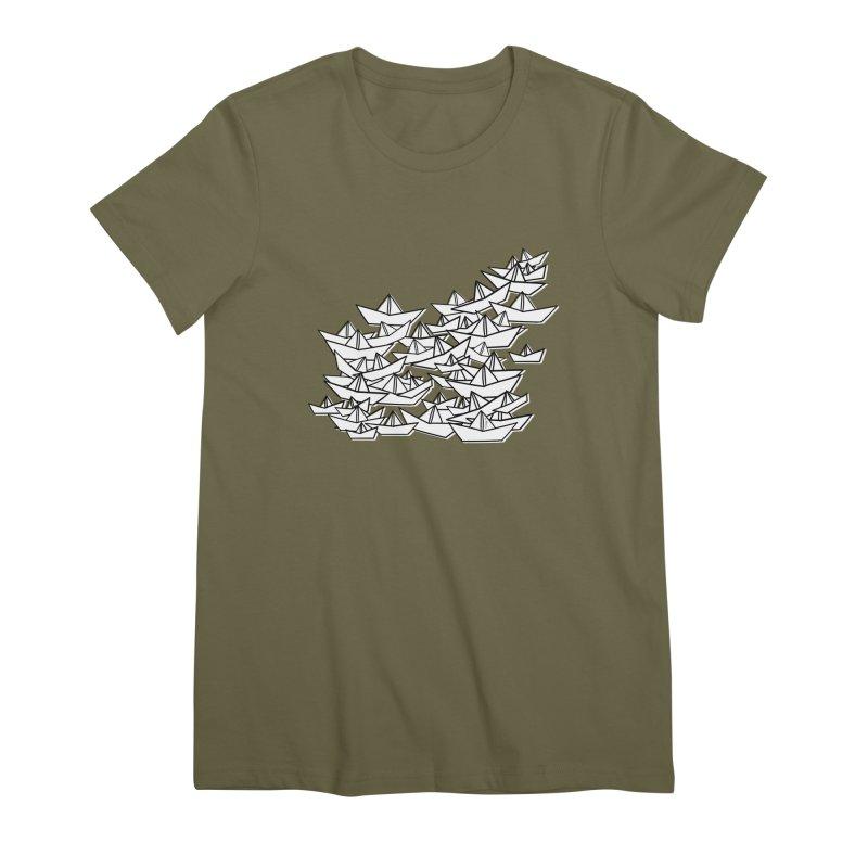 Paper Boats by Sardine Women's Premium T-Shirt by Sardine