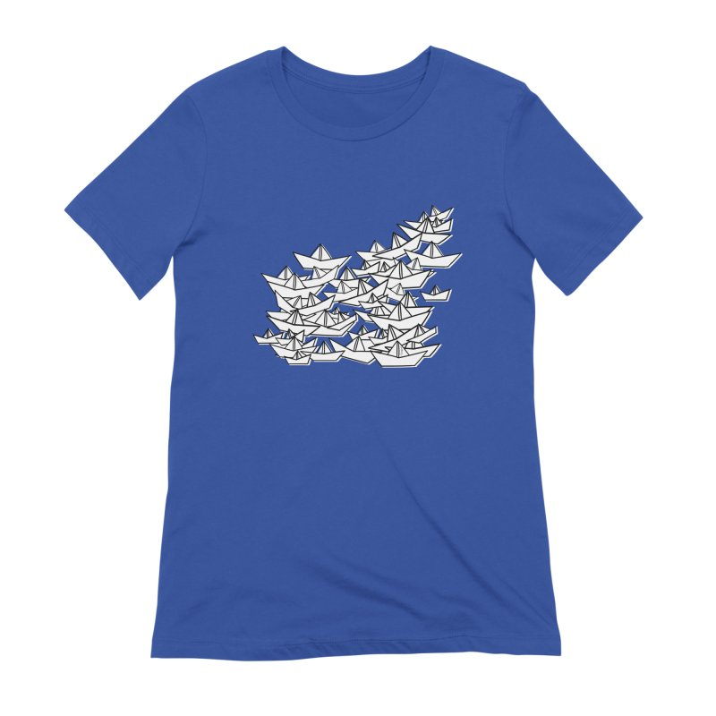 Paper Boats by Sardine Women's Extra Soft T-Shirt by Sardine