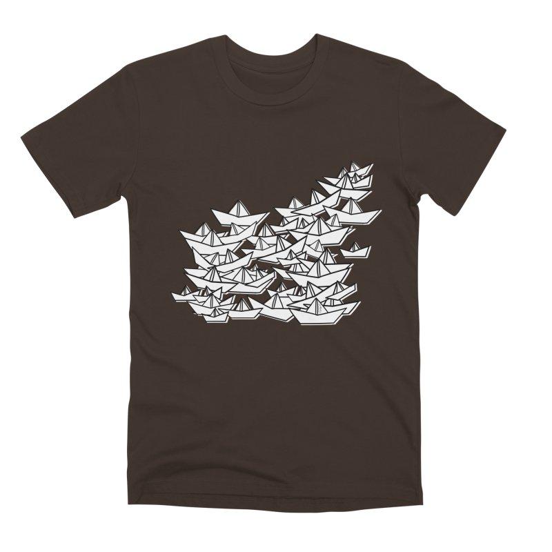 Paper Boats by Sardine Men's Premium T-Shirt by Sardine