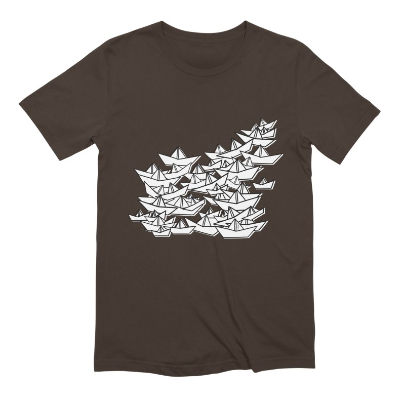 Paper Boats by Sardine Men's Extra Soft T-Shirt by Sardine