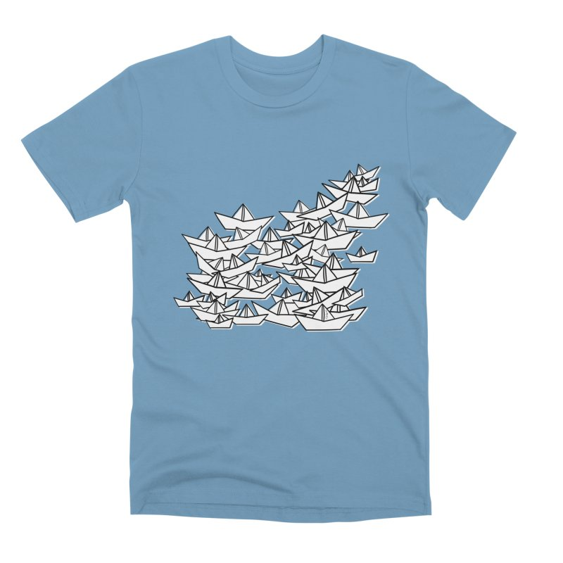 Paper Boats by Sardine Men's Premium T-Shirt by Sardine