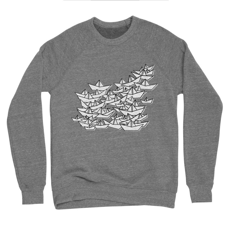 Paper Boats by Sardine Men's Sponge Fleece Sweatshirt by Sardine