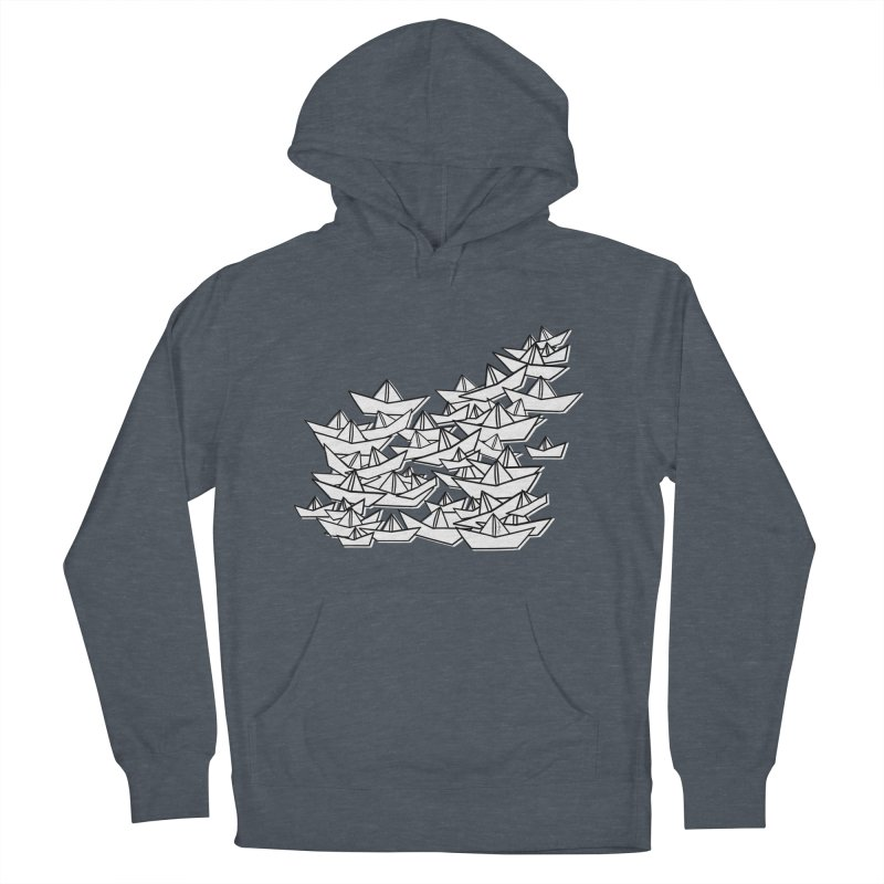 Paper Boats by Sardine Men's French Terry Pullover Hoody by Sardine