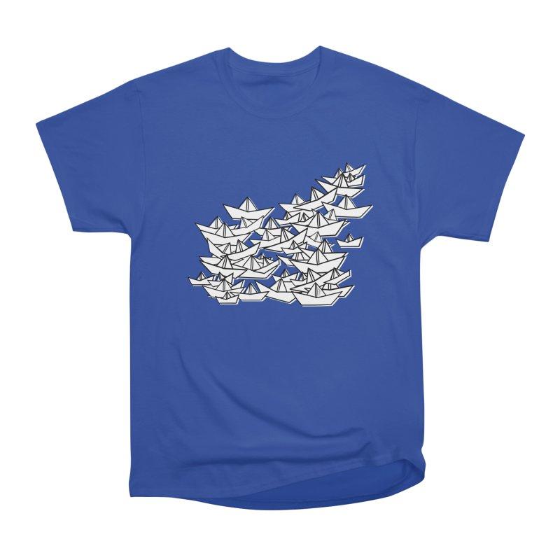 Paper Boats by Sardine Women's Heavyweight Unisex T-Shirt by Sardine
