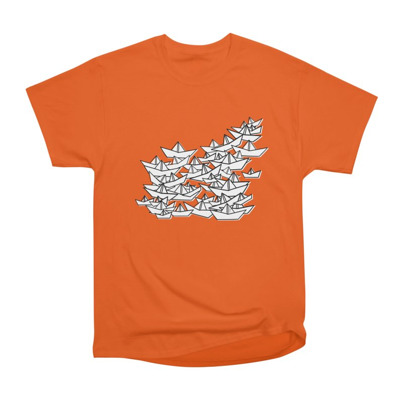 Paper Boats by Sardine Men's Heavyweight T-Shirt by Sardine