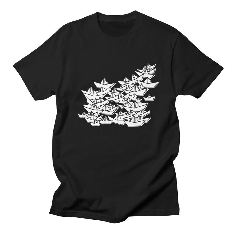 Paper Boats by Sardine Women's Regular Unisex T-Shirt by Sardine
