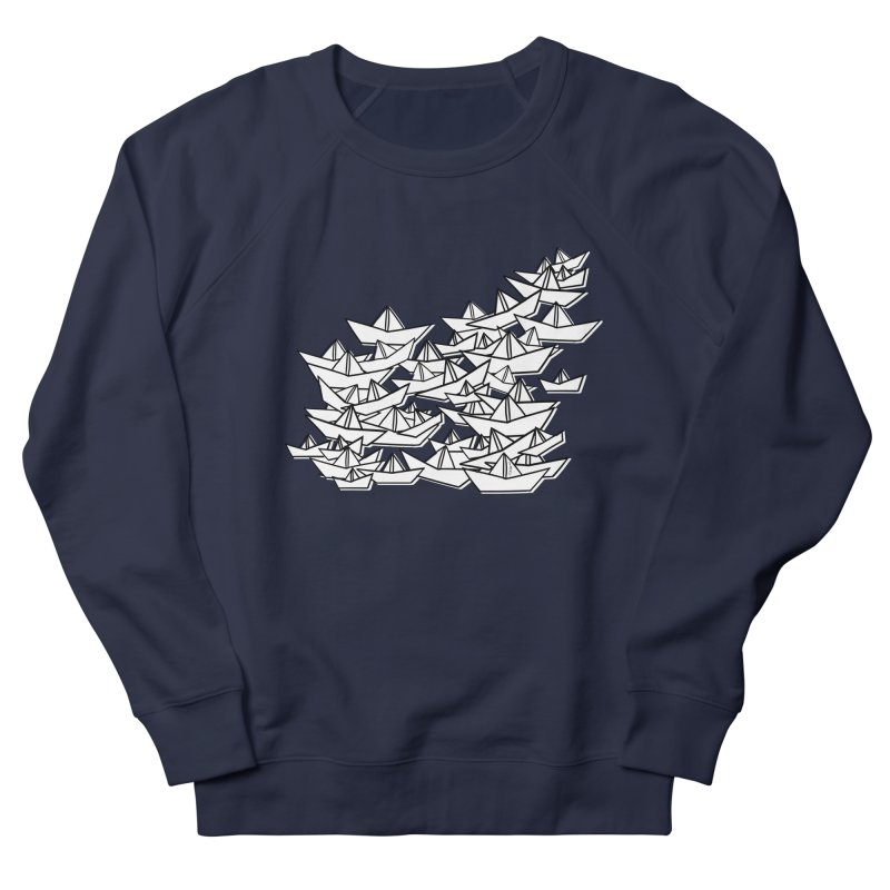 Paper Boats by Sardine Men's French Terry Sweatshirt by Sardine