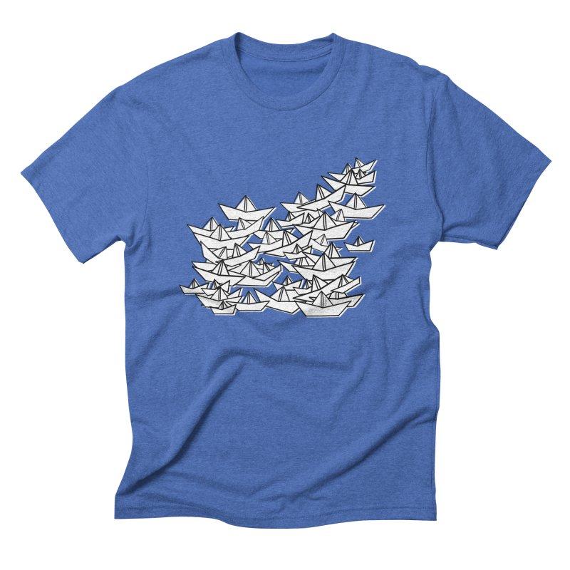 Paper Boats by Sardine Men's Triblend T-Shirt by Sardine