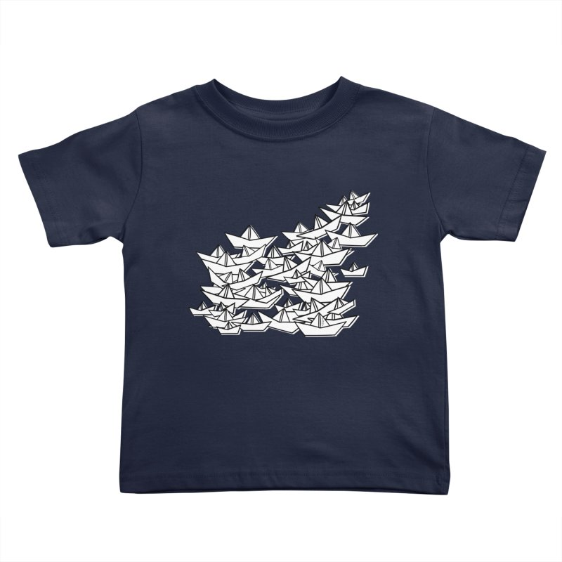 Paper Boats by Sardine Kids Toddler T-Shirt by Sardine