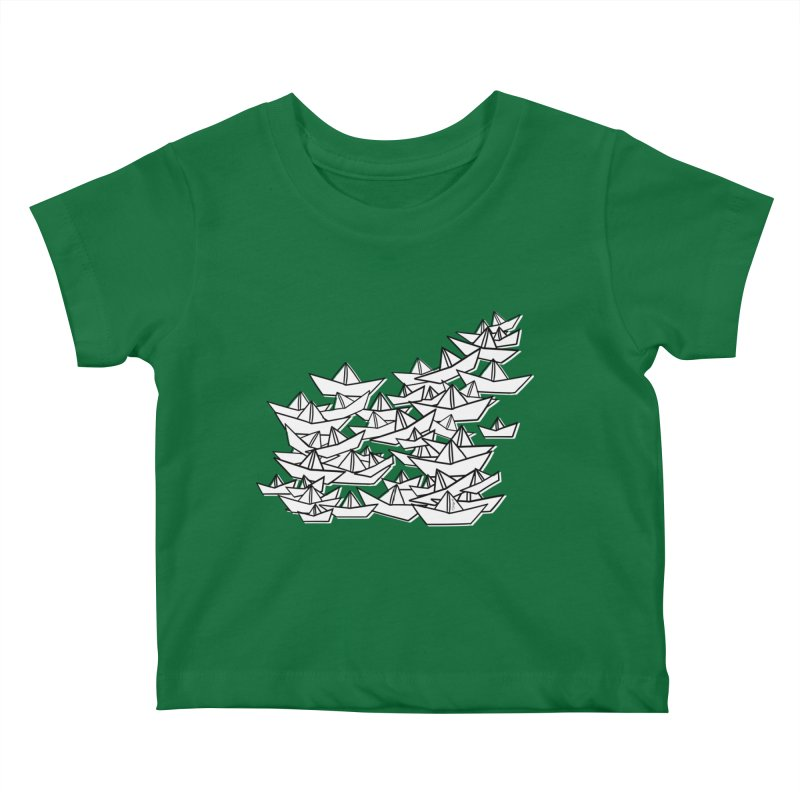 Paper Boats by Sardine Kids Baby T-Shirt by Sardine