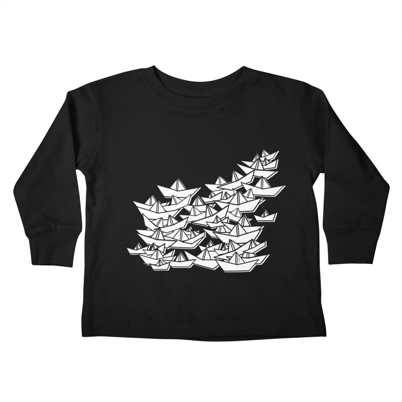 Paper Boats by Sardine Kids Toddler Longsleeve T-Shirt by Sardine