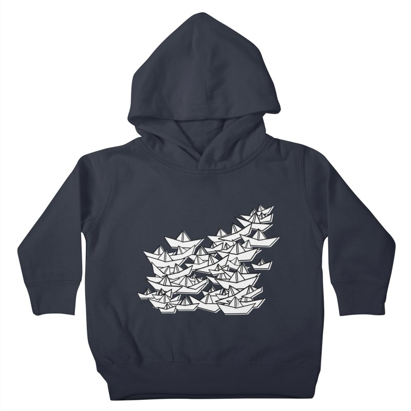 Paper Boats by Sardine Kids Toddler Pullover Hoody by Sardine