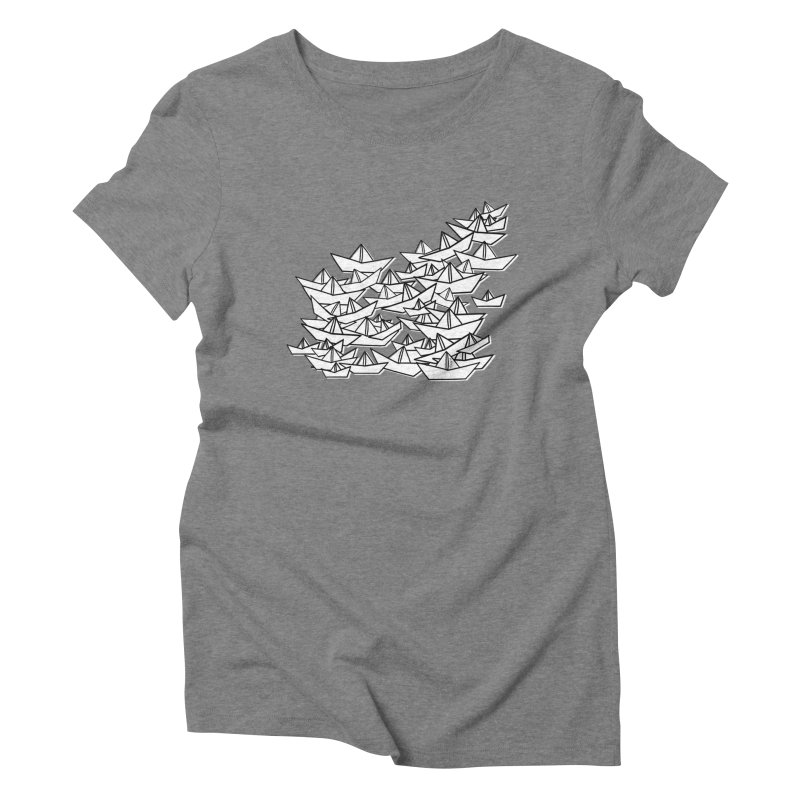 Paper Boats by Sardine Women's Triblend T-Shirt by Sardine