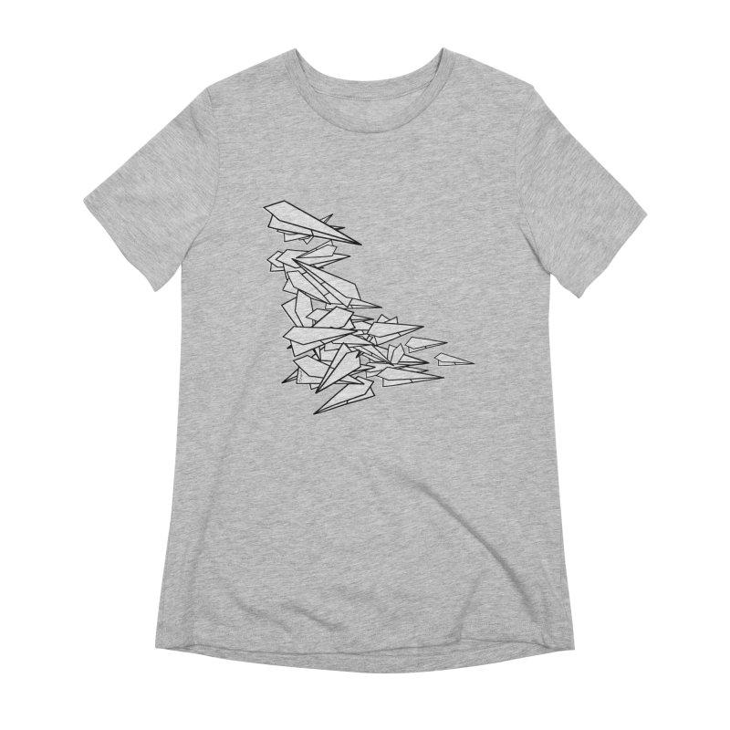 Paper Planes by Sardine Women's Extra Soft T-Shirt by Sardine