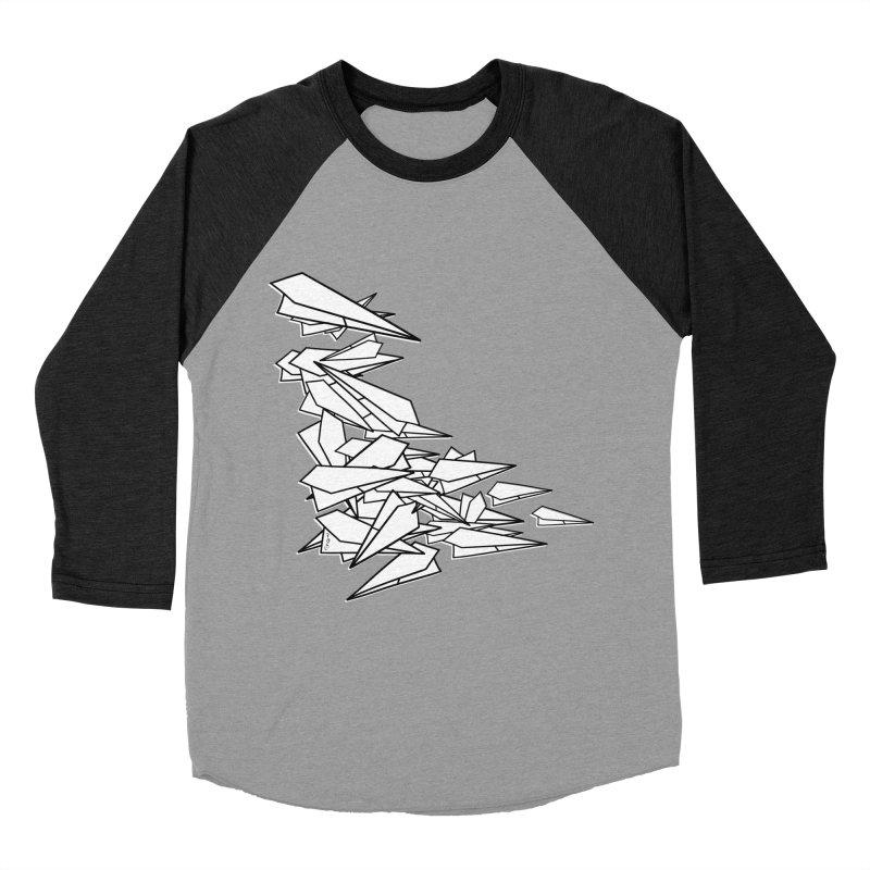 Paper Planes by Sardine Women's Baseball Triblend Longsleeve T-Shirt by Sardine