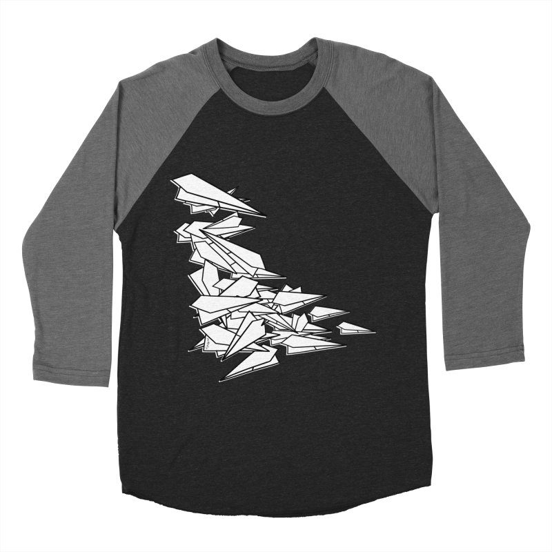 Paper Planes by Sardine Men's Baseball Triblend Longsleeve T-Shirt by Sardine