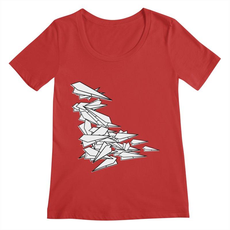 Paper Planes by Sardine Women's Regular Scoop Neck by Sardine