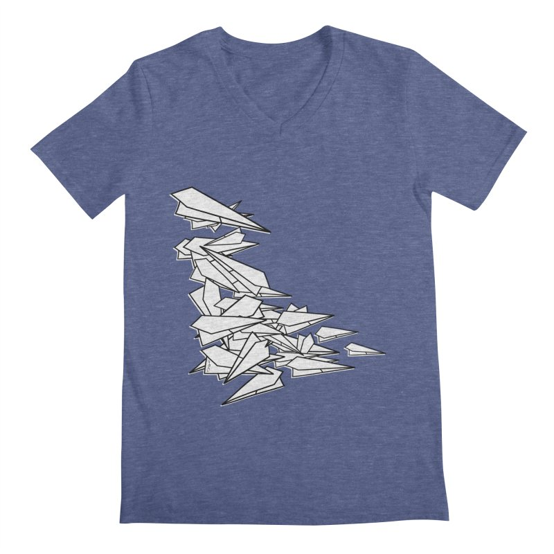 Paper Planes by Sardine Men's Regular V-Neck by Sardine