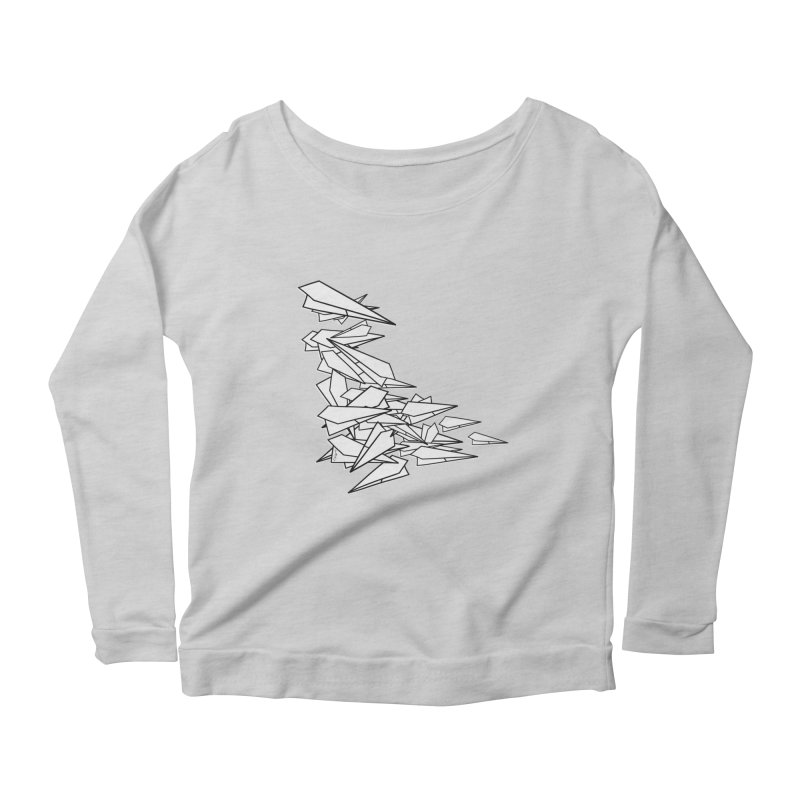 Paper Planes by Sardine Women's Scoop Neck Longsleeve T-Shirt by Sardine