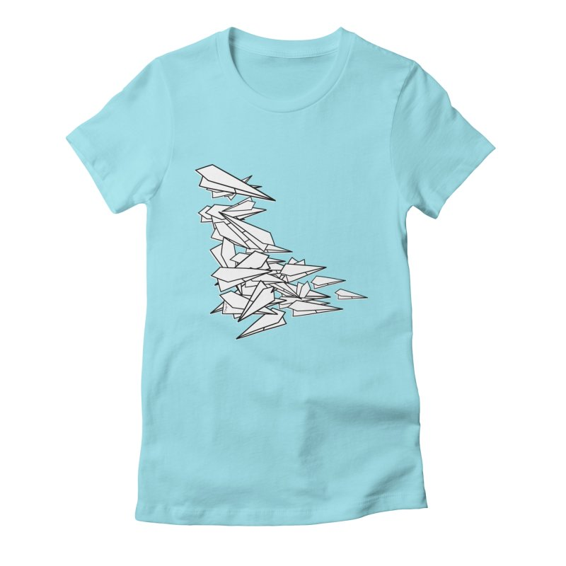 Paper Planes by Sardine Women's Fitted T-Shirt by Sardine